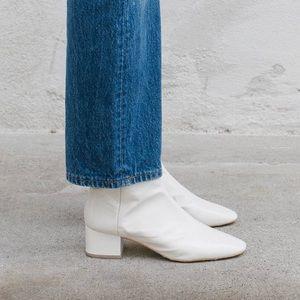 Loeffler Randall Carter Boot White Patent Leather